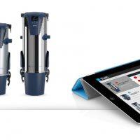 Aertecnica - tubolink nadzor delovanja  sesalnika preko tablice in pametnega telefona
